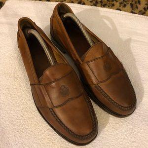 Polo Ralph Lauren Tan Crest Loafers 11.5 D